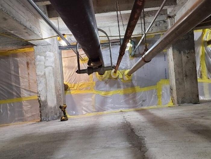 Crawlspace Encapsulation ACM Soils, Western NY