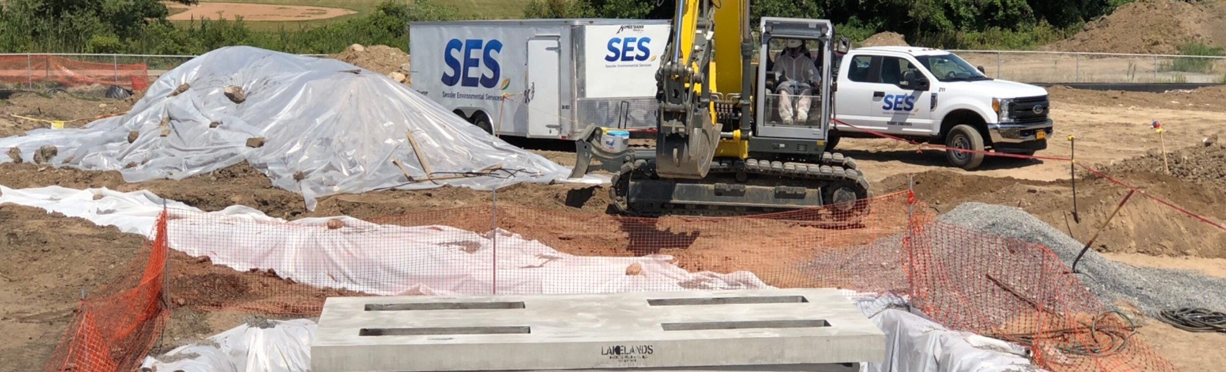 Ses In Excavator Acm Soil Trench