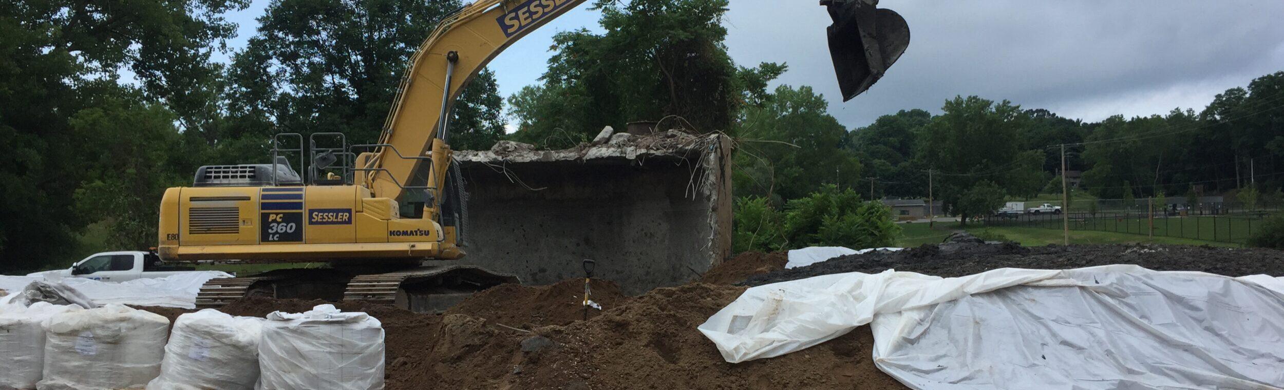 Sessler Environmental Ses Town Of Pittsford Tank Demolition Remediation Soil Mixing
